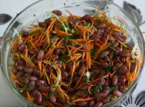 Рецепт салатов на день рождения с консервированной фасолью