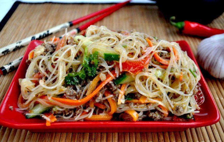 Салат из фунчозы с овощами рецепт пошагово в 21