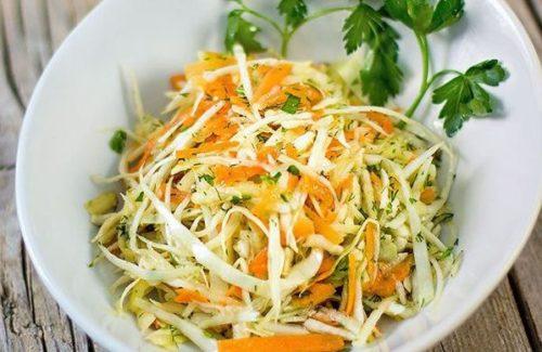 салат с капустой свежей и морковью с уксусом как в столовой рецепт