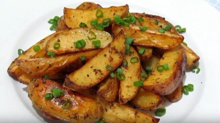 рецепт приготовления - картошка по-деревенски в духовке