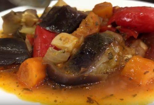 Рецепт греческого салата с баклажанами на зиму