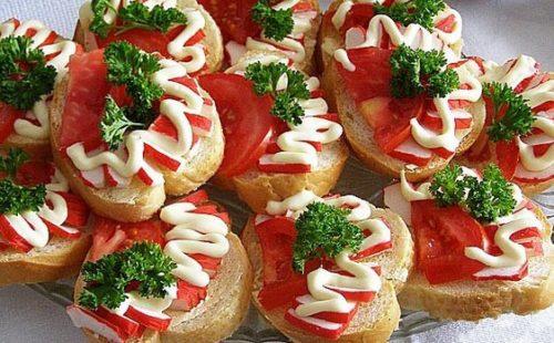 Бутерброды из семги на праздничный стол