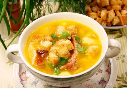 Гороховый суп с копченостями рецепт приготовления