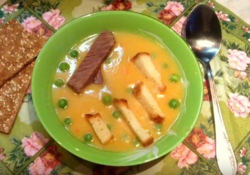Гороховый суп пюре с говядиной