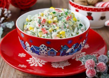 Салат с крабовыми палочками. Простые и вкусные рецепты