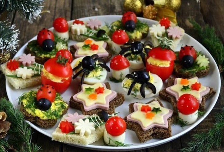 Праздничные закуски на Новый год
