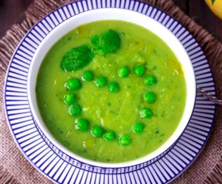 Постный суп пюре из горошка