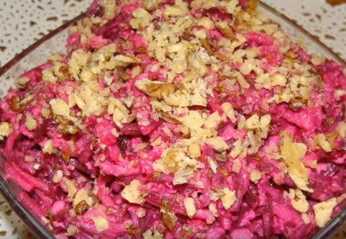 Салат из свеклы и груши