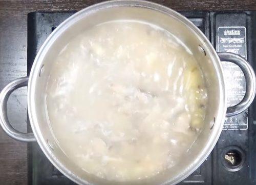 Грибной суп пюре с картофелем