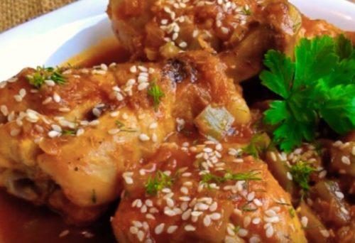 Курица в кисло-сладком соусе по тайваньски с имбирем и медом