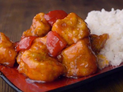 Курица в кисло-сладком соусе по восточному