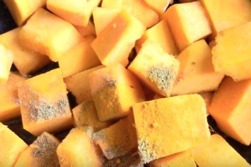 Овощное рагу с картофелем и тыквой