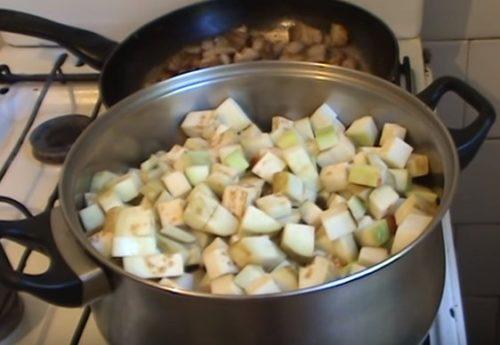 Овощное рагу с мясом и фасолью