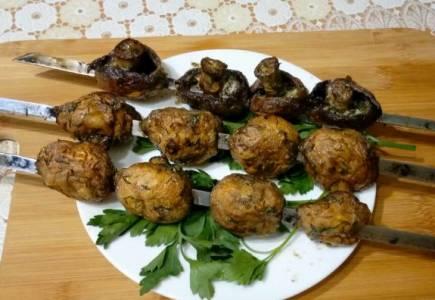 грибы маринованные для шашлыка в майонезе