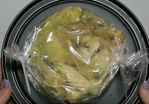 Крылышки в горчично-медовом маринаде
