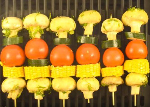 Овощи на гриле с кукурузой