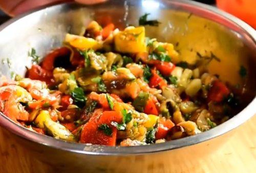 Овощи на гриле салат