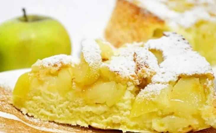 шарлотка с яблоками рецепт на 2 формы