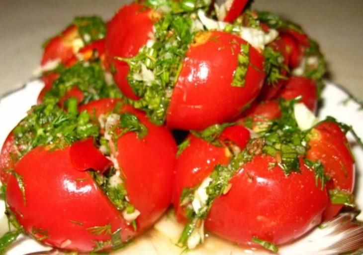 Малосольные помидоры быстрого приготовления