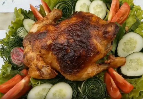 Рецепт курицы, фаршированной шампиньонами