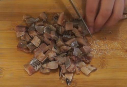 Рецепт винегрета с селедкой и огурцом