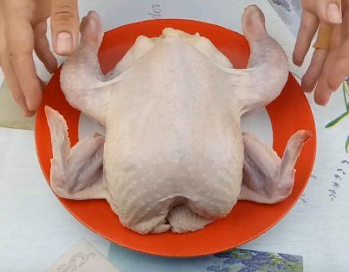 рецепт вкусной курицы, фаршированной шампиньонами