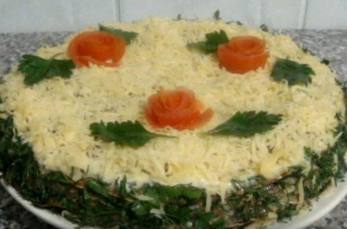 Рецепт печеночного торта без лука и моркови