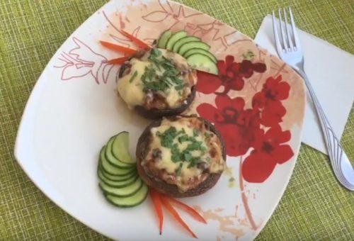 Шампиньоны фаршированные сыром — простой и вкусный рецепт