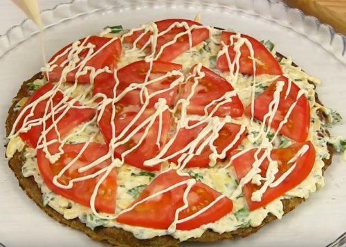 Овощной закусочный торт из баклажанов