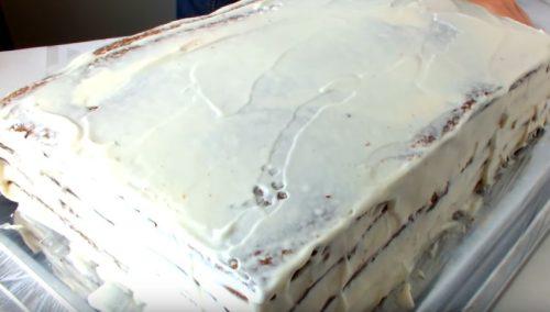 Шоколадно-медовый торт с брусникой (или другими ягодами)