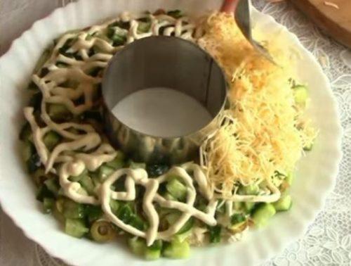 Салат с курицей и киви – Изумрудный браслет
