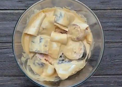 Скумбрия, запеченная в духовке в горчично-соевом соусе