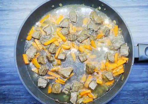 Рецепт быстрого плова из говядины а сковороде