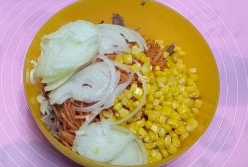 Как приготовить салат с языком и корейской морковью