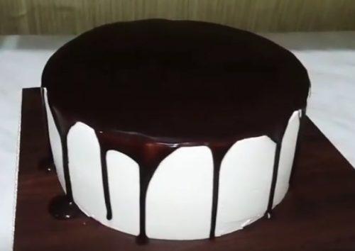 Простой рецепт глазури из шоколада и сливок
