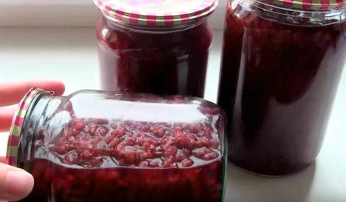 Рецепт малинового варенья на зиму