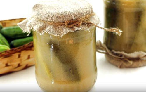 Простая засолка огурцов с горчицей