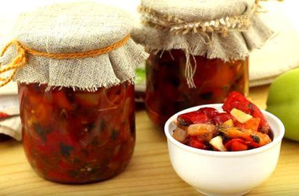 Простой рецепт лечо из сладкого перца, помидоров и лука