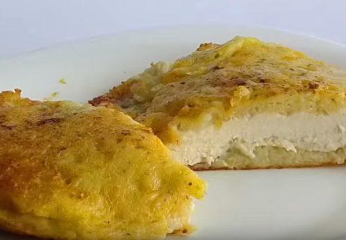 Куриные отбивные в картофельном кляре, жареные на сковороде