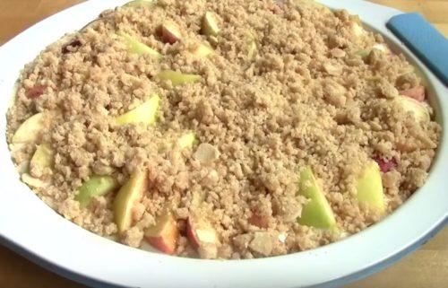 Нежный пирог с творогом и яблоками – простой рецепт