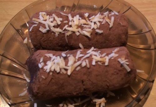 Очень вкусная картошка из смеси печенья, сухарей и орехов