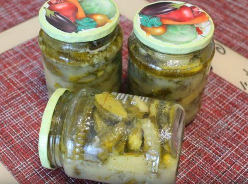 Рецепт салата из огурцов в горчичной заливке