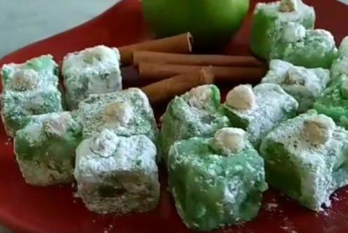 Яблочный рахат-лукум с корицей и орехами