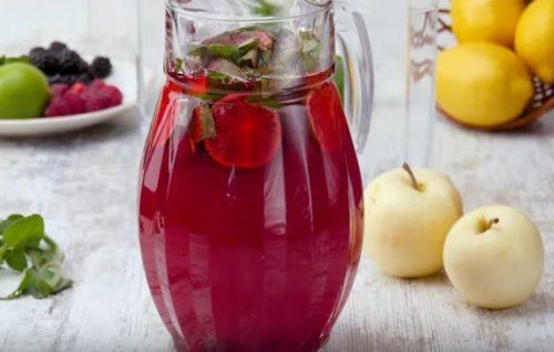 Домашний лимонад с ягодами