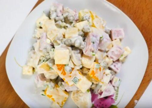 Салаты с ветчиной и сыром – 8 вкусных рецептов
