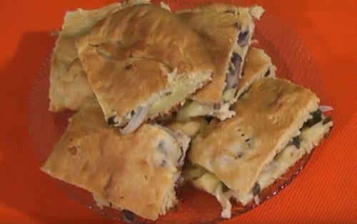 Пирог с картофелем и грибами – кулинарный рецепт