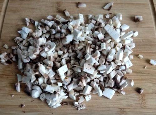 блины из бекона и грибов