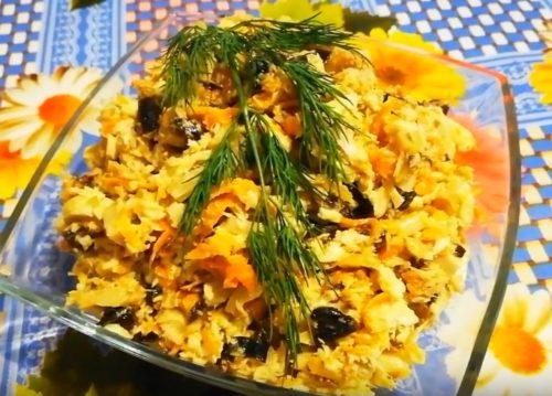 Салат из курицы с черносливом – 5 очень вкусных рецептов приготовления